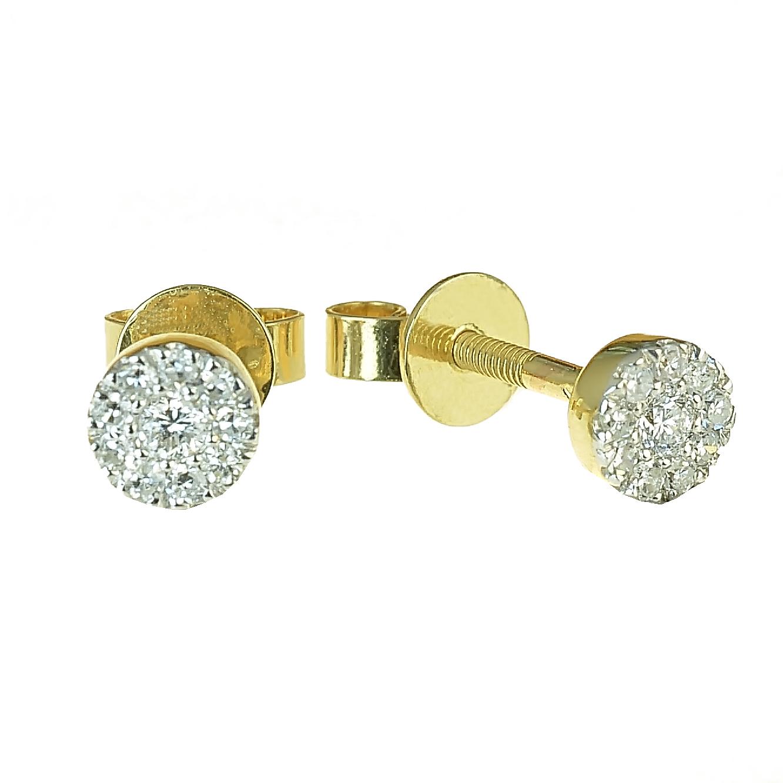 b32e24b30 GOLDIE - Náušnice - Zlaté náušnice s diamantmi