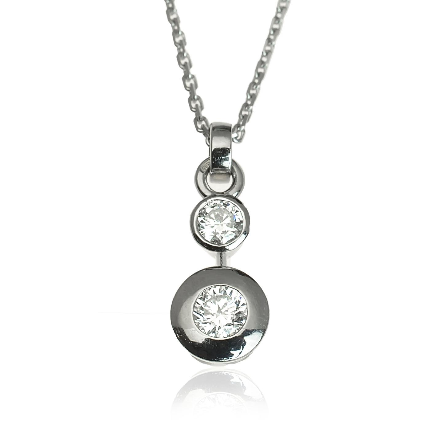 7d67ea572 GOLDIE - Náhrdelníky - Zlatý diamantový náhrdelník Lucky
