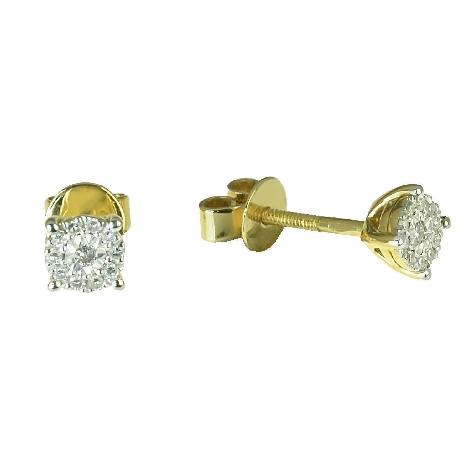 0a0a27860 GOLDIE - Náušnice - Zlaté náušnice s diamantom Payton