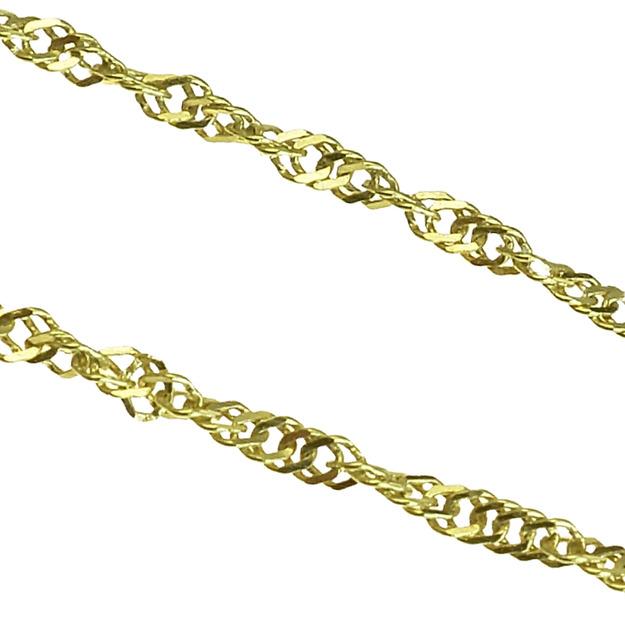 61f1a9404 GOLDIE - Retiazky - Zlatá retiazka Singapur, 45cm