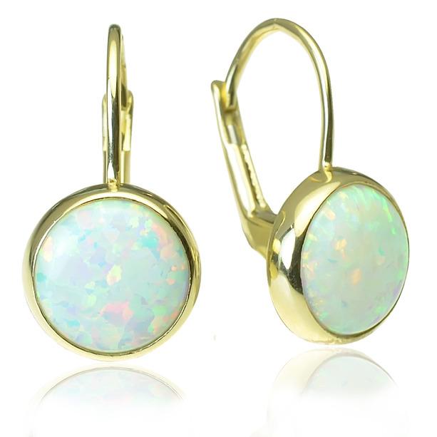 04086ac0a GOLDIE - Náušnice - Zlaté náušnice s opálom Opal peck
